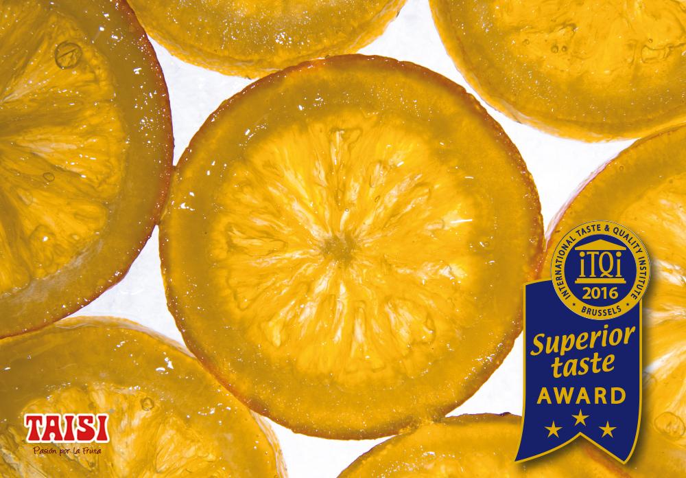 iTQi premia la Naranja Confitada Taisi con 3* de oro por su sabor excepcional y calidad superior