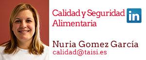 Taisi, Nuria Gómez García, Calidad y Seguridad Alimentaria