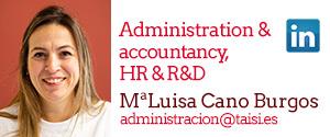 Taisi, Maria Luisa Cano, Administration & accountancy, HR & R&D