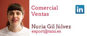 Taisi, Nuria Gil Júlvez, Comercial, Ventas