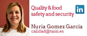 Taisi, Nuria Gómez García, Quality & food and security