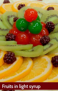 Fruits in light syrup